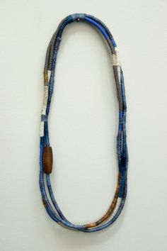 hand-wrapped triple strand fiber necklace by racheltrobertson