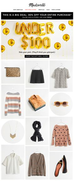 Madewell : Gifts By Price Under $100