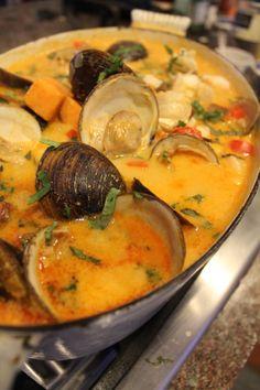 Thai Seafood Stew with Sweet potato, basil and lime