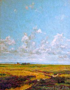 Theobald Schorn - Heide im Wolkenhimmel