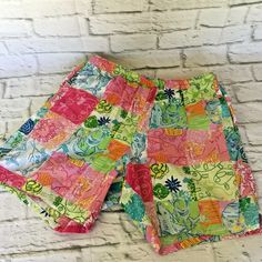 2a5fea0262 Vintage Lilly Pulitzer Lined Shorts Party Patch Print Size S Small Fish  Monkey #LillyPulitzer #