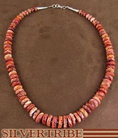 Oyster Shell Bead Necklace.
