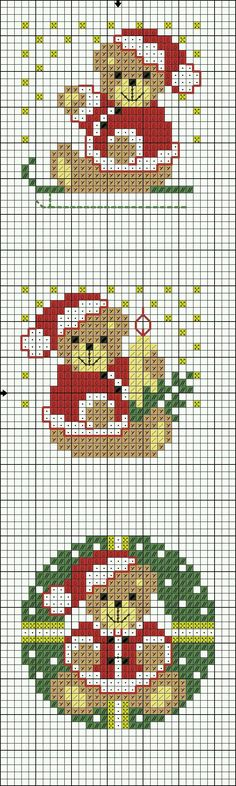 Brilliant Cross Stitch Embroidery Tips Ideas. Mesmerizing Cross Stitch Embroidery Tips Ideas. Xmas Cross Stitch, Cross Stitch Bookmarks, Cross Stitch Cards, Cross Stitching, Cross Stitch Embroidery, Pixel Art Noel, Cross Stitch Designs, Cross Stitch Patterns, Loom Patterns