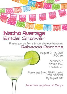 Printed Invitations  Fiesta Mexican Spicy Bridal by PaperworkEnvy, $32.00