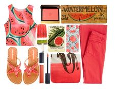 """Watermelon for Days"" by juliehalloran ❤ liked on Polyvore featuring McGuire Denim, WithChic, Tommy Bahama, Olivier Desforges, Casetify, Christian Dior and Tom Ford"