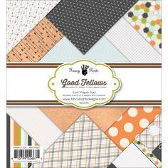 Fancy Pants Designs Single-Sided Paper Pad 6'X6' 36/Pkg-Good Fellows, 12 Designs/3 Each