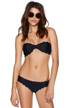 Nasty Gal Ahead of the Curves Bikini - Swimwear Best Swimwear, Bikini Swimwear, Swimsuits, Sexy Bikini, Hot Lingerie, Nasty Gal Bikini, Bikini For Curves, Scalloped Bikini, Cute Bathing Suits