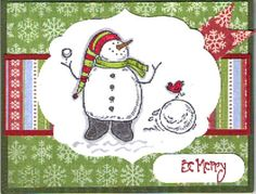 Snow Much Fun by stampinginVa - Cards and Paper Crafts at Splitcoaststampers Snowman Cards, Cute Snowman, Snowmen, Christmas Cards, Xmas, Snow Much Fun, Paper Crafts, Diy Crafts, Winter Cards