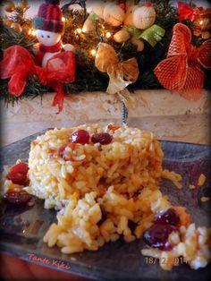 Tante Kiki: Χριστουγεννιάτικο ριζότο με καστανό ρύζι Rice Recipes, Chicken, Meat, Ethnic Recipes, Food, Essen, Meals, Yemek, Eten