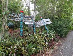 Cedric Celia and Bruce Dragonfly on the driveway. Their reflectors add a small element of safety at night.