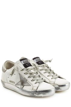 GOLDEN GOOSE Super Star Leather Sneakers. #goldengoose #shoes #