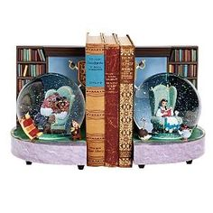 I want to get a Beauty and the Beast snowglobe when I go. But TWO snowglobes? That are bookends? This is amazing!