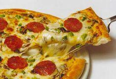 Uma saborosa pizza sem carboidrato! ~ Atkiniana