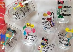 Here's the ultimate gift guide to wine glasses and other wine-related gifts for people obsessed with Disney princesses. Disney Cups, Disney Diy, Disney Crafts, Disney Stuff, Disney Magic, Wine Related Gifts, Wine Gifts, Disney Princess Food, Disney Princess Bridesmaids