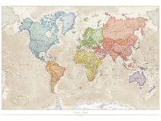 Incredible world map wallpaper designs create an impressive impact in your home. Inspire your travels with our range of world map wallpaper mural designs. Giant World Map, World Map Mural, World Map Wallpaper, Old Wallpaper, World Map Poster, Wallpaper Backgrounds, Wallpapers, Antique World Map, Antique Maps