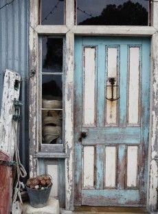 Kara Rosenlund - Honeymoon in Pictures Old Doors, Windows And Doors, Front Doors, Entrance Doors, Kara Rosenlund, Cottages By The Sea, Unique Doors, Elements Of Style, Am Meer