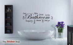 BATHROOM WORD CLOUD MODERN WALL STICKER VINYL ART CONTEMPORARY