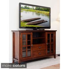 Complete your living room with the simple elegance of the Stratford TV and media console. A central open area and closed side cabinets allow for plenty of space for all types of media and gaming compo