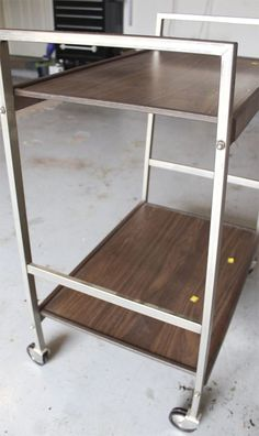 Mid Century 3 Tier Vintage Metal Cart Makeover Diy Home