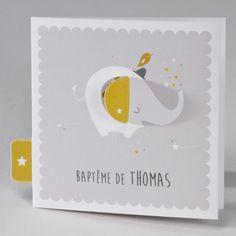 Buromac Baby Folly II 586122 Faire-part de naissance. Faire-part trois volets avec une encoche prévue pour fermer la carte et former un 2 volets. Le motif avec l'étoile dépasse du faire part. L'association des trois couleurs est formidable. Les motifs sont pré imprimés sur la carte.