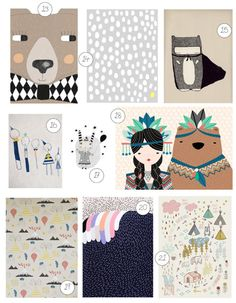 21 art prints for kids!
