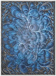 Original artwork, sculpture, seattle, jason hallman, stephen stum, deep blue sky, blue steel, blue art