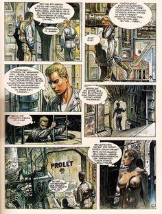 Comic Art, Comic Books, Serpieri, Science Fiction Series, Cartoon Profile Pictures, Bd Comics, Cowboy Art, Female Images, Heavy Metal