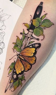 50 photos de tatouages ​​de papillon pour inspiration - Photos et tatouages ​​- Tatuagens . - 50 photos de tatouages ​​de papillon pour inspiration – Photos et tatouages ​​- Tatuagens - Mini Tattoos, Leg Tattoos, Body Art Tattoos, Small Tattoos, Sleeve Tattoos, Cool Tattoos, Tattoo Sleeves, Finger Tattoos, Tatoos
