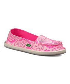 Look at this #zulilyfind! Sanuk Hot Pink & Ivory Geometric Light Bright Loafer - Girls by Sanuk #zulilyfinds