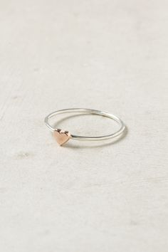 Wee Heart Ring, Rose Gold. So sweet! (via ...