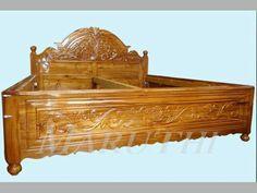 Wood Bed Design, Bedroom False Ceiling Design, Wood Ladder, Cots, Wood Beds, Dresses, Furniture, Vestidos, Wooden Beds