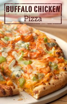 You can have this delicious homemade Buffalo Chicken Pizza on the dinner table in just 25 minutes. It's great for a school night dinner!