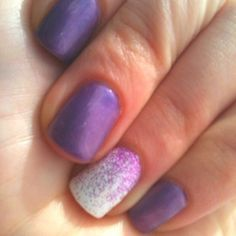 One ombré nail. Shellac designs