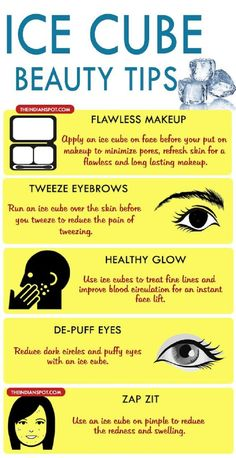 10 Best Beauty Tips Using Ice Cubes - 14 Beneficial Beauty Tips for Face and Body Care to Beautify Yourself from Head to Toe