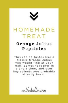 Speedy to make, these Orange Julius popsicles are full of creamy, citrusy flavor just like the drink you got in the mall. Smooth, creamy, with a lovely citrus and vanilla flavor. Get your kids involved and make this yummy snack together. Orange Popsicles, Frozen Popsicles, Popsicle Molds, Popsicle Recipes, Vanilla Yogurt, Vanilla Flavoring, Rocket Pop, How To Make Orange, Orange Juice Concentrate