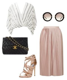 Senza titolo #544 by sara-scagnoli on Polyvore featuring moda, Free People, Topshop, Steve Madden, Chanel and Miu Miu
