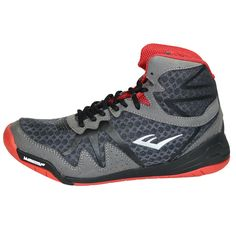 designer fashion 80426 63ed4 Everlast Pivt Boxing Shoes - Grey   Red Boxing Boots, Mma Boxing, Life  Skills. MSM FIGHT SHOP