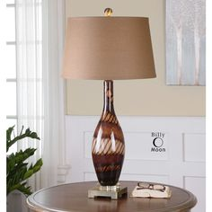 Uttermost Domitia Brown Glass Table Lamp at Destination Lighting