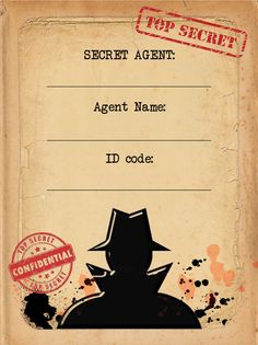 Spy Mission / Secret Agent Name Cards - Set of 9 Mission Impossible Party, Geheimagenten Party, Secret Agent Party, Spy Birthday Parties, Detective Theme, Spy Kids, Spy Games For Kids, Anniversaire Harry Potter, Name Cards