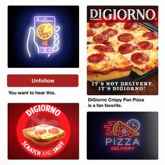 Dont get caught waiting for delivery! Pick up a DiGiorno Crispy Pan Pizza tha - Delivery Food - Ideas of Delivery Food - Dont get caught waiting for delivery! Pick up a DiGiorno Crispy Pan Pizza that bakes fresh in its own pan in your own oven. Food Advertising, Advertising Design, Creative Advertising, Pizza Delivery, Delivery Food, Pizza Poster, Crispy Pizza, Food Graphic Design, Pizza Party