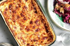 This simple lasagne bianco, made with a creamy ricotta bechamel sauce, is divine when mixed with slow-cooked lamb, or just by itself. Either way, serve with a fresh salad.