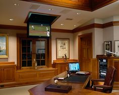 Adirondack House traditional home office