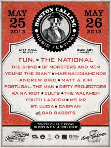 What a #lineup for their first year! 2013 Boston Calling Music Festival | May 25 - 26, 2013 | City Hall Plaza | Boston, Massachusetts
