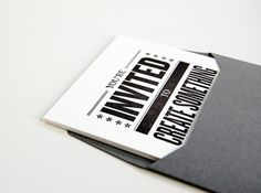 You're invited letterpress piece by Steven Wright