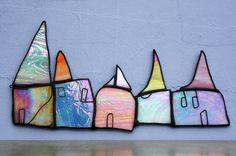 Glass Art by Maria Barber - 'Cottage Row'