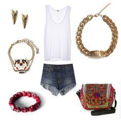 Bracelets, earrings, necklace and bag www.myla.es