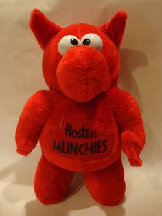 d7062a8a980 Vintage Tall Hostess Potato Chip Red Stuffed Munchie Plush Toy Advertising  in Collectibles
