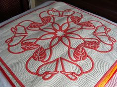 Aya's Hawaiian quilting by jmoonkey, via Flickr