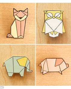 Billedresultat for origami scanNcut Origami Tattoo, Geometric Drawing, Geometric Art, Pinterest Origami, Origami Animals, Cute Pins, Pin And Patches, Origami Paper, String Art