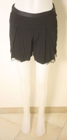 THE KOOPLES LADIES BLACK VISCOSE-BLEND SHORTS - SIZE 36 - BNWT - VERY CHIC #TheKooples #CasualShorts